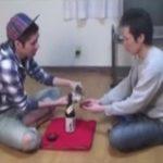 【無修正ゲイ動画】新年早々にゲイ友と杯を交わし野球拳からの王様ゲームで姫始めセックスを要求するホモww