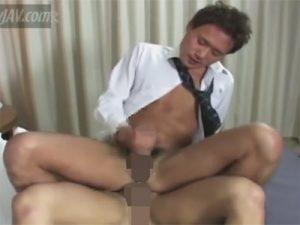 【セックスゲイ動画】至福の表情で穴マンを犯されてドクドクと腸内に中出しされるイケメンサラリーマンww