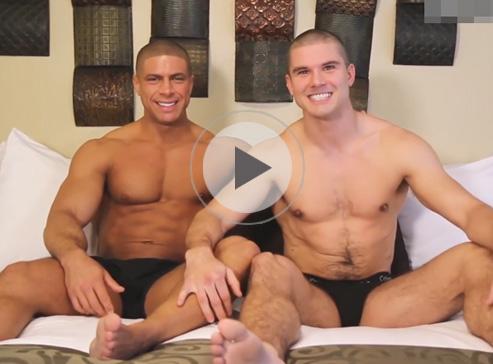 【外人ゲイ動画】ゴリゴリのマッチョの白人2人がパワフルなアナルセックスを堪能しちゃうww