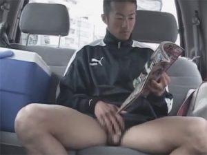 【オナニーゲイ動画】露出行為に興奮…ジャージ姿のスポーツマンが車の中とマンションの踊り場で手淫ww