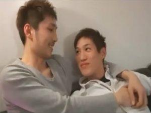 【フェラチオゲイ動画】キスから始まる初々しいボーイズラブ…今日はチューとフェラチオだけで大満足の2人ww
