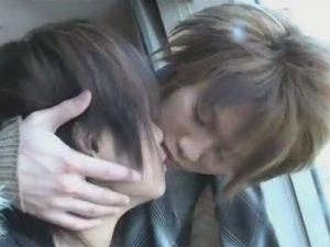 【セックスゲイ動画】長髪のギャル男系カップルが素敵な雰囲気のホテルで肛門性交をして愛し合うww