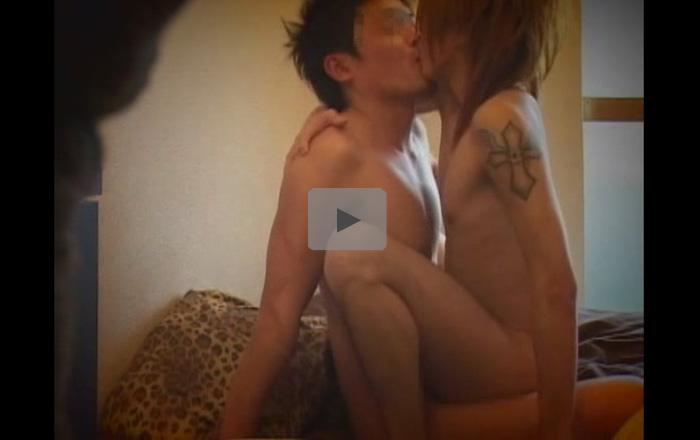 【盗撮ゲイ動画】ギャル男系イケメンとその彼氏がアナルセックスで愛し合っているところを盗撮ww