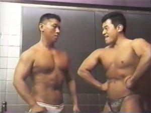 【SMゲイ動画】ポージング勝負からSMプレイにハッテンしマッチョおじさんのアナルフィスト責めが炸裂ww