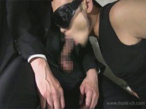 【フェラチオゲイ動画】スーツ姿のドス黒く太いチンポのサラリーマンをローションフェラでご奉仕ww