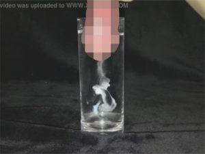 【無修正ゲイ動画】みんな大好きなスペルマ汁を水を入れたコップの中で発射してみたww