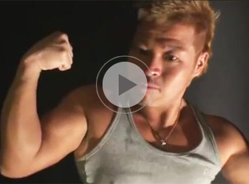 【無修正ゲイ動画】ゴリマッチョのヤンチャ系のノンケをオイルまみれにして乳首や包茎チンポをねっとり愛撫ww