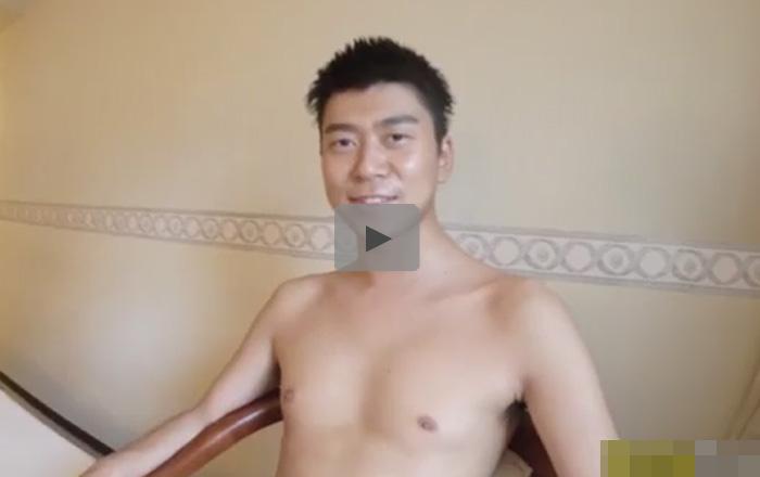 【無修正ゲイ動画】京都出身23歳の中肉中背の素人ゲイが普段通りのオナニー姿を見せてくれるww